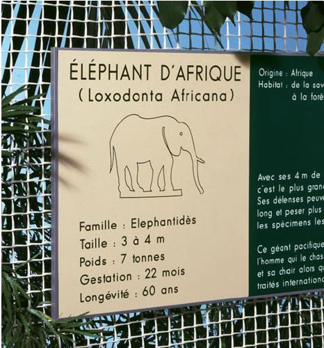 动物园动物信息标识牌